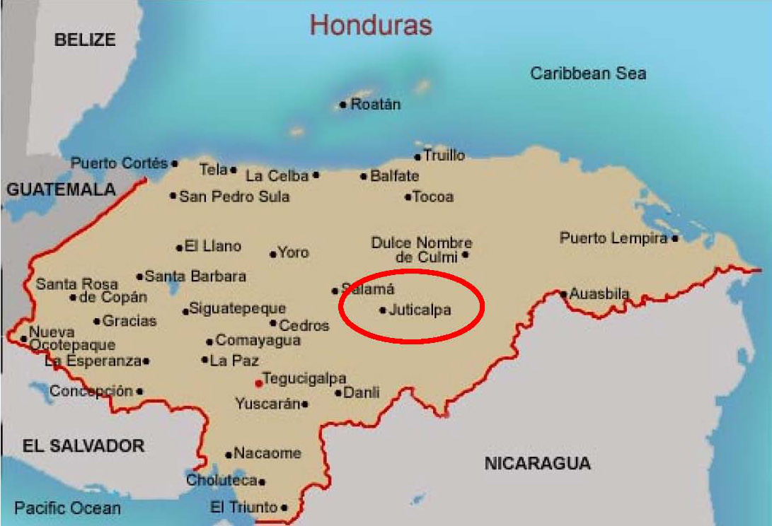 Image Map of Honduras