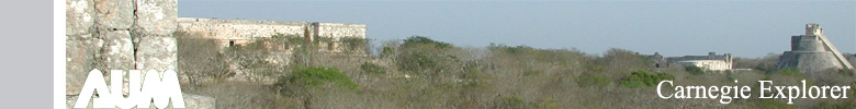 Panorama of the site of Uxmal - Photo